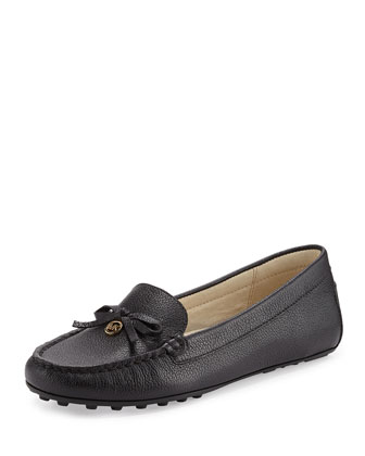 Everett Leather Moccasin, Black