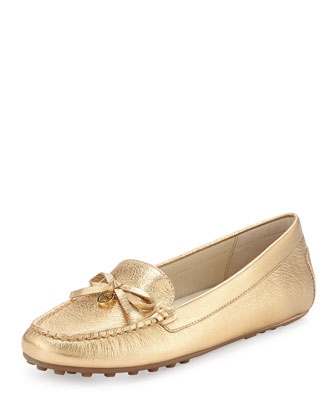 Everett Metallic Moccasin, Pale Gold
