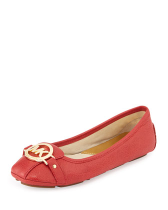 Fulton Leather Moccasin, Watermelon