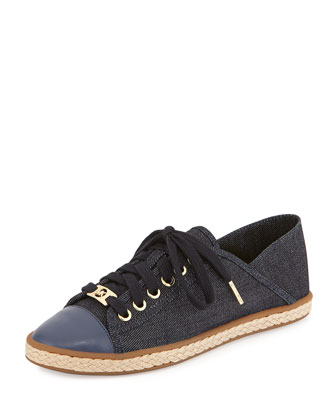 Kristy Denim Lace-Up Sneaker, Denim