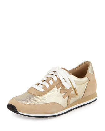 Stanton Metallic Leather Trainer, Golden