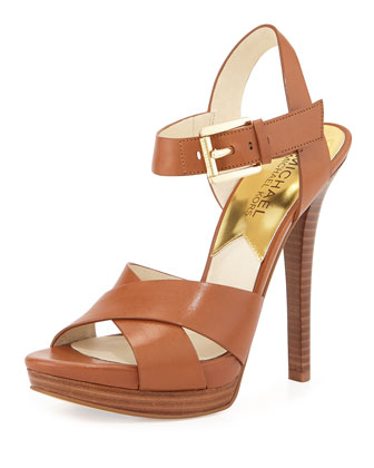 Oksana Leather Sandal, Luggage