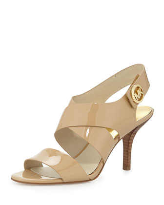 Joselle Patent Leather Sandal, Nude