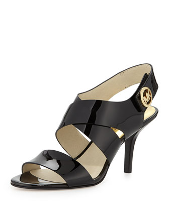 Joselle Patent Leather Sandal, Black