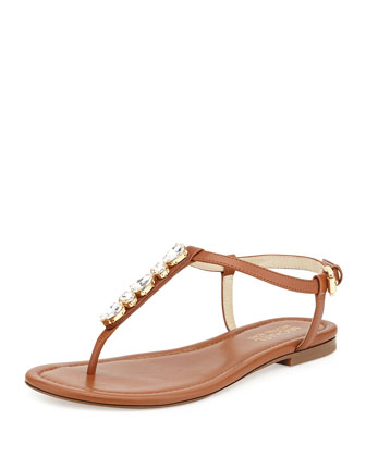 Jayden Embellished Thong Sandal, Luggage