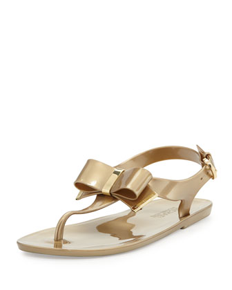 Kayden Jelly Thong Sandal, Gold