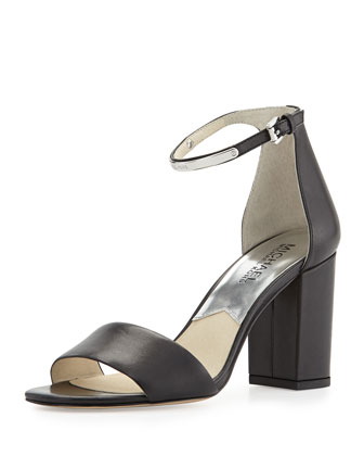 Kristen Open-Toe High-Heel Sandal, Black