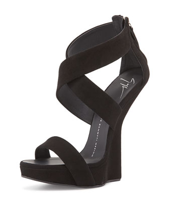 Heel-Less Crisscross Pump, black