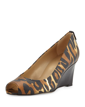 Loire Peep-Toe Wedge, Jaguar