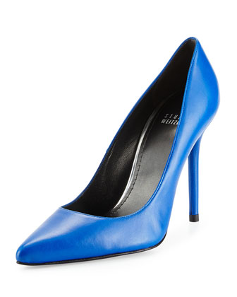 Nouveau Napa Leather Pump, Ultramarine