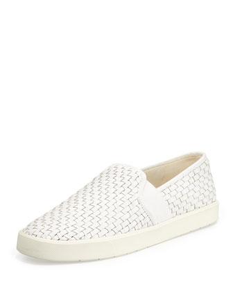 Preston Woven Napa Sneaker, Bone