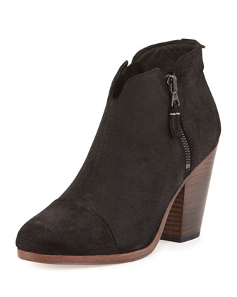 Margot Leather Ankle Boot, Black