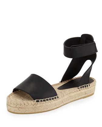 Edie Platform Espadrille Sandal, Black
