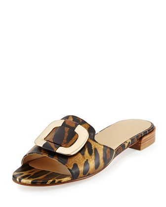 Odeon Ornament Slide Sandal, Jaguar