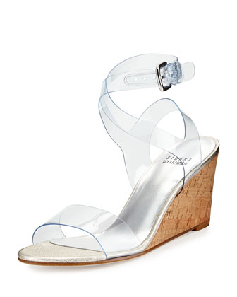 See-You-Naked Wedge Sandal, Pearl