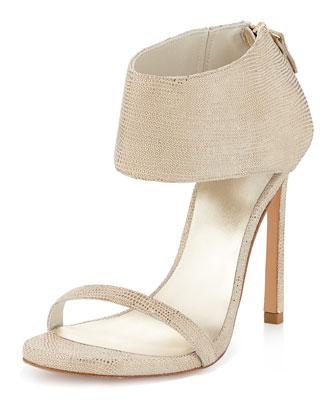 Showgirl Ankle-Cuff Sandal, Cava
