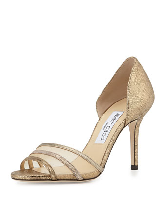 Vexil Glitter d'Orsay Pump, Light Gold