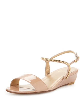 Sweeper Chain Demi-Wedge Sandal, Adobe