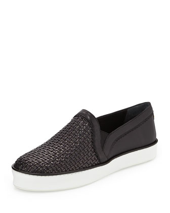 Weavewear Woven Slip-On Sneaker, Black