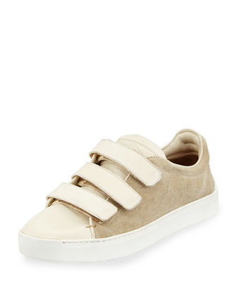 Kent Grip-Strap Low-Top Sneaker, Natural