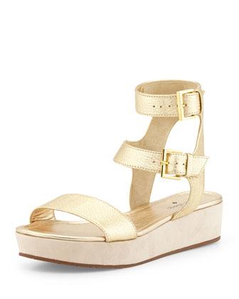 troy flatform gladiator sandal, gold