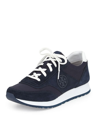 Suede Logo Trainer, Tory Navy