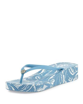 Thandie Rubber Wedge Flip-Flop