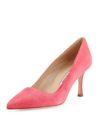 BB Suede 70mm Pump, Watermelon