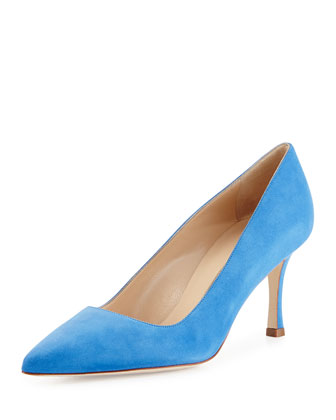 BB Suede 70mm Pump, Cornflower