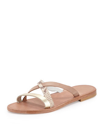 Buenaventura Slip-On Sandal, Nude/Multi