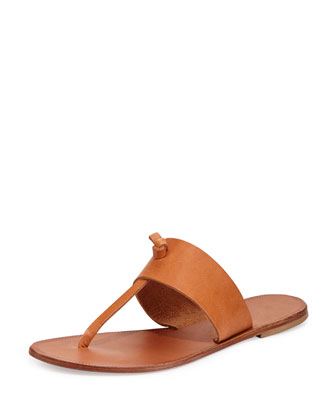 Nice Slip-On Thong Sandal, Natural