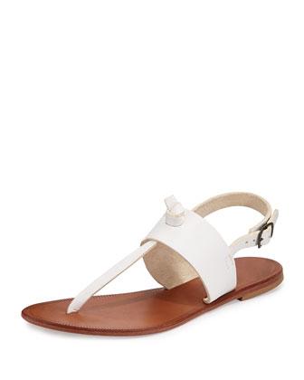 Bastia Knot Thong Sandal, White