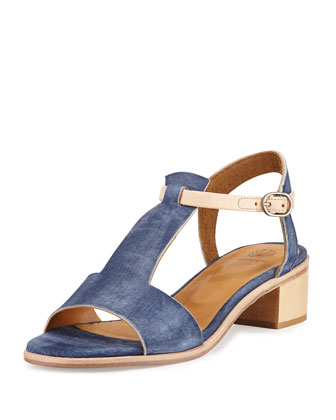 Toto City Two-Tone Sandal, Medium Blue