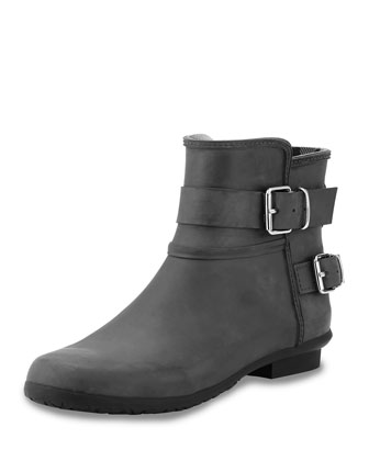 Rubber Rain Bootie, Black