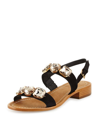 bacau jewel-embellished sandal, black