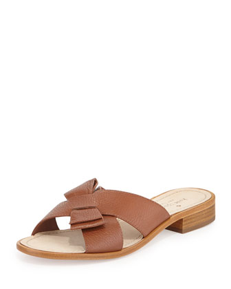 becky crisscross slide sandal, luggage