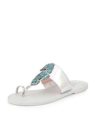 cazabon sea horse sandal, silver