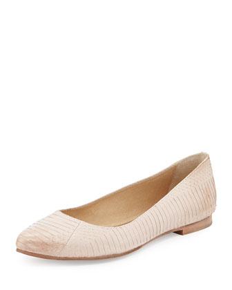 Olive Ballerina Flat, Blush