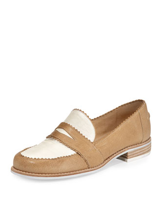 Schooldays Two-Tone Loafer, Ginseng