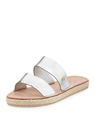 irevela two-band espadrille sandal, silver