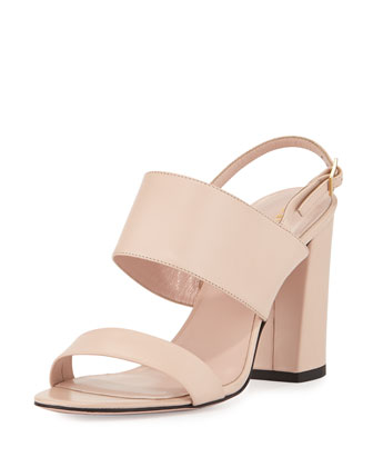 irvine leather city sandal, petal pink