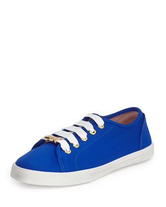 lodero neoprene lace-up sneaker, bright blue