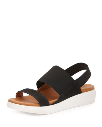 Lansbury Leather Sneaker-Sandal, Black