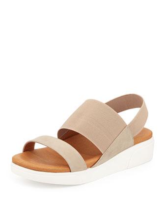 Lansbury Leather Sneaker-Sandal, Cappucino