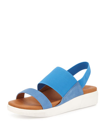 Lansbury Leather Sneaker-Sandal, Bright Blue