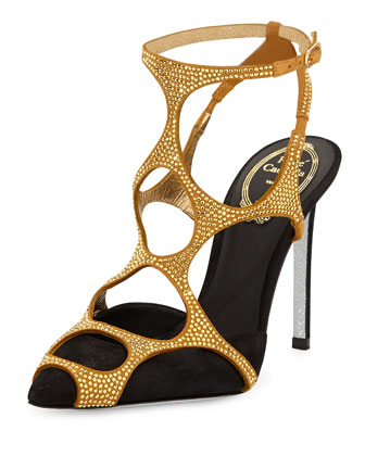 Strass Web-Caged Pump, Black