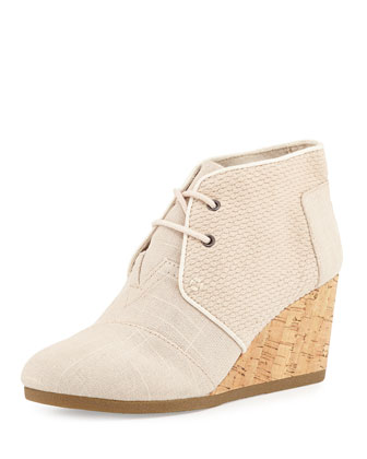 Burlap Wedge Desert Boot, Whisper
