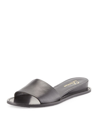 Megan Internal Demi-Wedge Sandal, Black