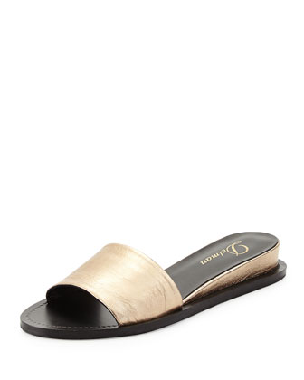 Megan Internal-Wedge Sandal, Platino
