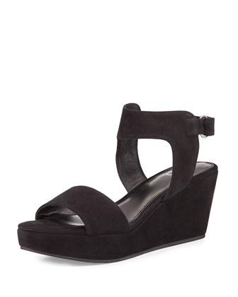 Vada Nubuck Platform Sandal, Black